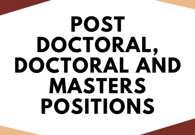 Vacancy: Post Doctoral, Doctoral and Masters Positions