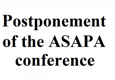 Postponement of the ASAPA conference